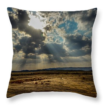 Stormy  Light Rays  Throw Pillow