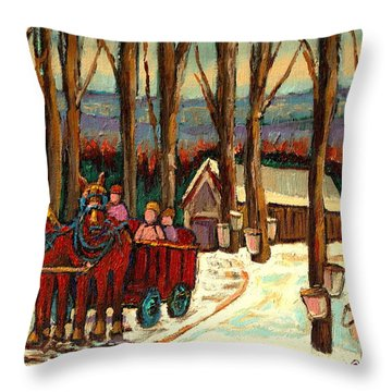 Afterschool Hockey Montreal Throw Pillows