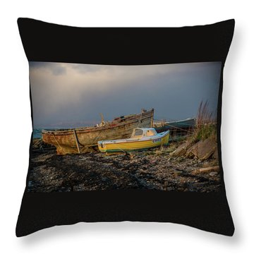 Sunset In The Highlands Throw Pillow by Terry Cosgrave