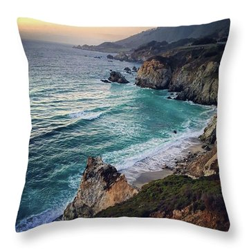 Sunset Creek  Throw Pillow
