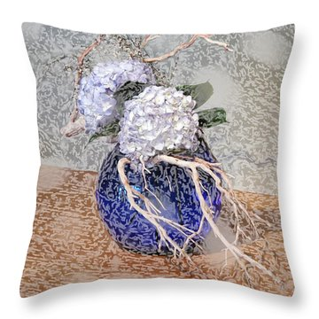 Surrealistic Blue  Throw Pillow by Don Wright