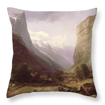 Swiss Scene Throw Pillow by Samuel Jackson
