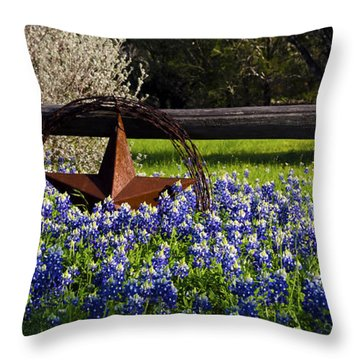 Texas Bluebonnets IIi Throw Pillow by Greg Reed