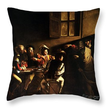 The Calling Of Saint Matthew Throw Pillow
