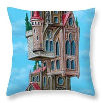 The Castle Of Air Throw Pillow