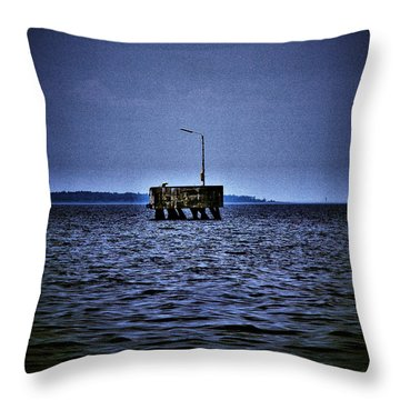 Throw Pillow featuring the photograph  The Dock Of Loneliness by Jouko Lehto