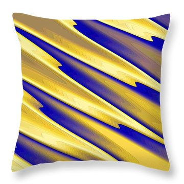 Throw Pillow featuring the digital art  The Enemies  by Dragica  Micki Fortuna
