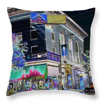 The Fillmore West Throw Pillow