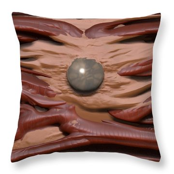 'the Magic Pearl' Throw Pillow