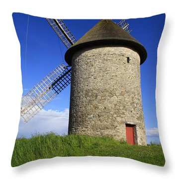 The Old Mill Throw Pillow by Martina Fagan