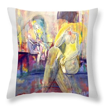 The Spa Throw Pillow by Gail Butters Cohen