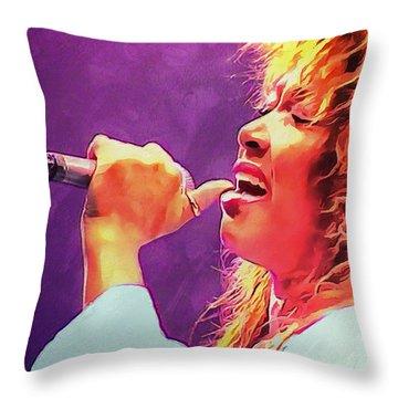 Tina Turner Throw Pillow by Sergey Lukashin