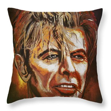 Throw Pillow featuring the painting  Tribute To David by Andrzej Szczerski