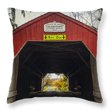 Uhlerstown Covered Bridge Iv Throw Pillow