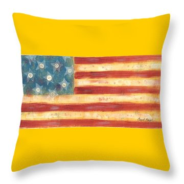 U.s. Flag Vintage Throw Pillow