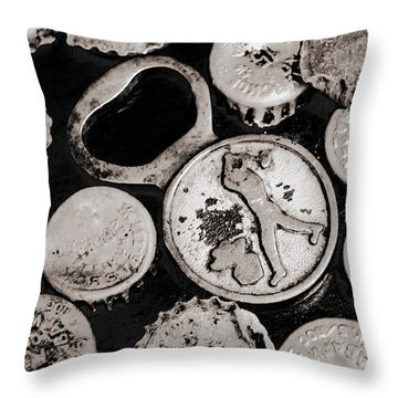 Throw Pillow featuring the photograph  Vintage Opener  by Andrey  Godyaykin