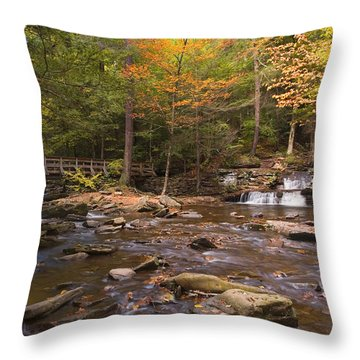 Watching The Waters Meet Throw Pillow
