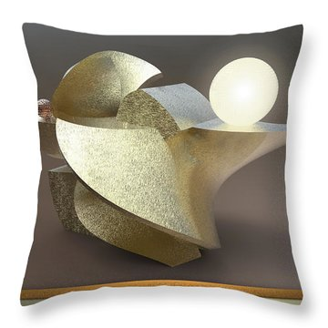 ' Wavy Cut Sculpture Light ' Throw Pillow