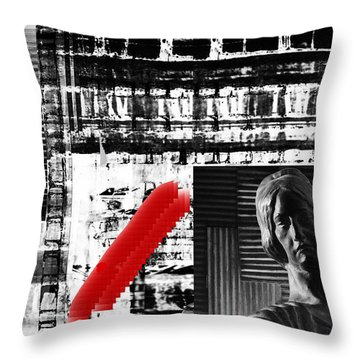 Where In The Riddle The Answer Hides And Red Throw Pillow