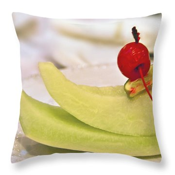 ... With A Cherry On Top Throw Pillow by Evelina Kremsdorf