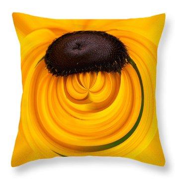 Yellow Throw Pillow by Jouko Lehto