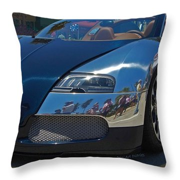 0 To 60 In 2 Throw Pillow by DigiArt Diaries by Vicky B Fuller