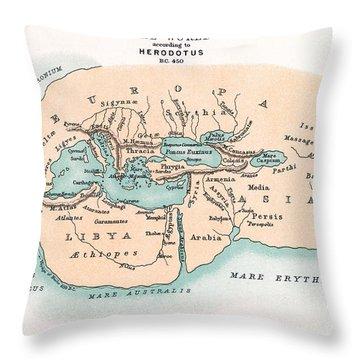 World Map Throw Pillow by Granger