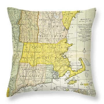 New England Map, C1775 Throw Pillow by Granger