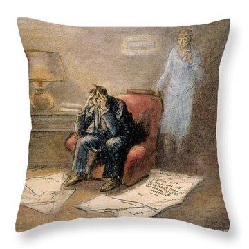 Stock Market Cartoon Throw Pillow by Granger