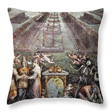 Battle Of Lepanto, 1571 Throw Pillow by Granger