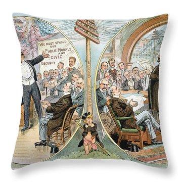 Business Cartoon, 1904 Throw Pillow by Granger