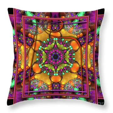 001 - Mandala Throw Pillow by Mimulux patricia no No