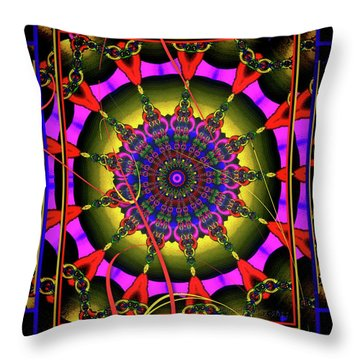 002 - Mandala Throw Pillow by Mimulux patricia no No