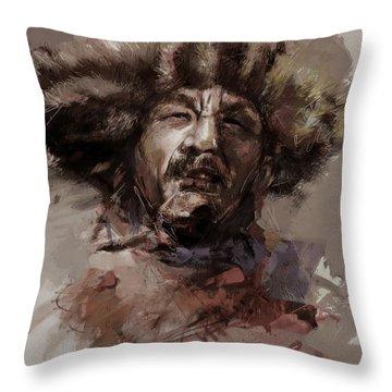 002 Kazakhstan Culture Throw Pillow