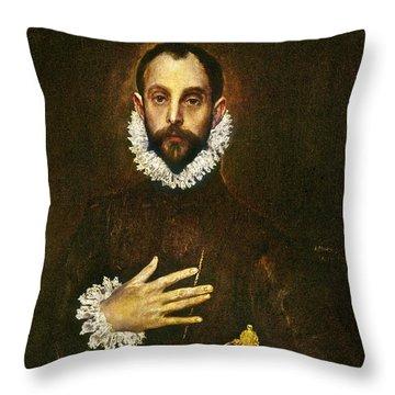El Greco: Gentleman Throw Pillow by Granger