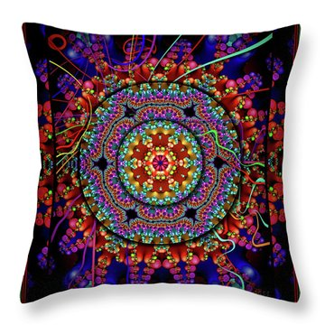 003 - Mandala Throw Pillow by Mimulux patricia no No