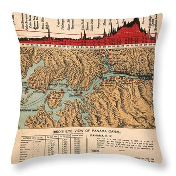 Card: Panama Canal, 1914 Throw Pillow by Granger