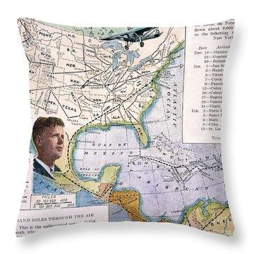 Charles Lindbergh Throw Pillow by Granger