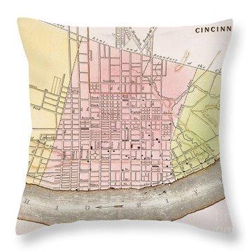 Cincinnati, Ohio, 1837 Throw Pillow by Granger