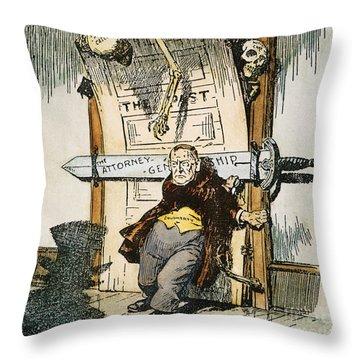 Skeletons Of Malfeasance Throw Pillow by Granger