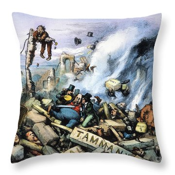 Nast: Tweed Ring Downfall Throw Pillow by Granger