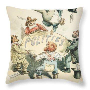 U.s. Cartoon: Businessman Throw Pillow by Granger