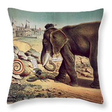 Office Seekers 1885 Throw Pillow by Granger