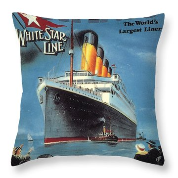 0065186 Throw Pillow by Titanic