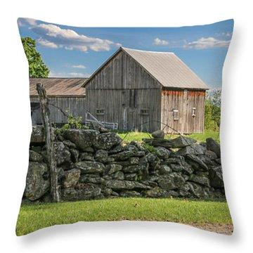#0079 - Robert's Barn, New Hampshire Throw Pillow