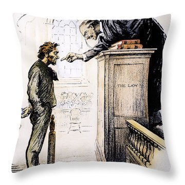 Red Scare Cartoon, 1919 Throw Pillow by Granger
