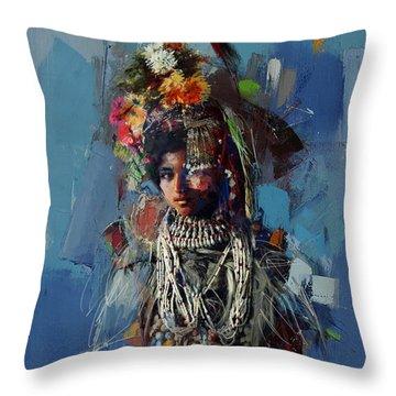 009 Kazakhstan Culture Throw Pillow
