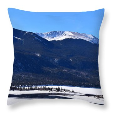 Throw Pillow featuring the photograph Twin Lakes Leadville Co by Margarethe Binkley