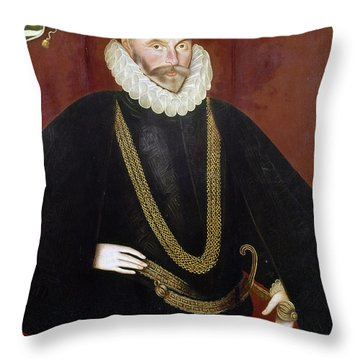 Sir John Hawkins Throw Pillow by Granger