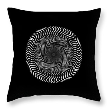 Throw Pillow featuring the digital art #011020159 by Visual Artist Frank Bonilla